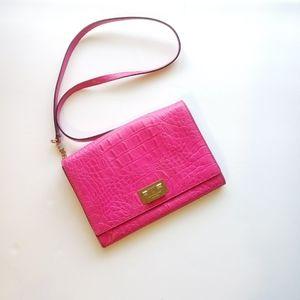 Kate spade crocodile hot pink crossbody bag